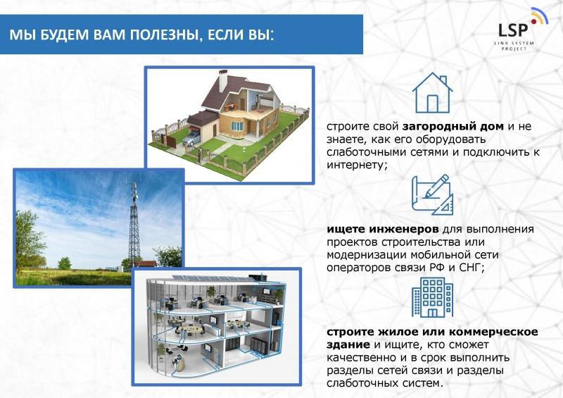 Проектирование связи от 3990 руб. за 1 день 247 в РФ и СНГ